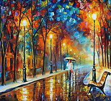 Contemplation - Oil painting on Canvas By Leonid Afremov by Leonid  Afremov