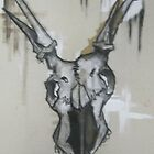Basic Instinct Is The Key To Survival-Deer Skull by joshbshp