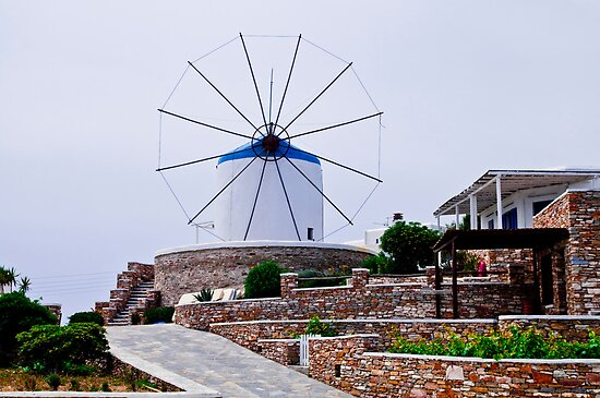 SIFNOS WINDMILL by vaggypar