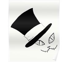 Cheshire Cat in the Hat Poster