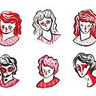 Brushpen Faces by Peony Gent