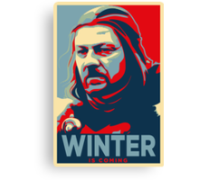 Ned Stark - Winter Is Coming Canvas Print