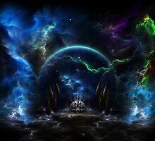 Galactic Ocean Waves by xzendor7