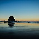 morning glow on cannon beach by maria miller