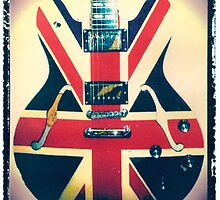 Union Jack Guitar art print photographic print music wall decor by guitarartprint