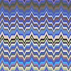 Blue Hues Zig Zag Patterns by LABELSTONE