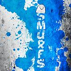 Smurfs Paint Splatter by LexingtonD
