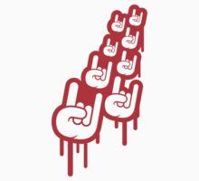 Cool Metal Hand Rock Graffiti by Style-O-Mat