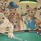 Thylacines Playing Pool (after Arthur Sarnoff) by RustyandJosh