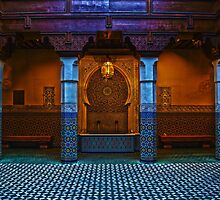 Moroccan Pavilion Fountain High Dynamic Range by wishfotografia