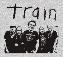 Train - Band Outline - Jimmy, Jerry, Pat, Hector & Scott by ILoveTrain