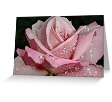 """""""Rainy Day Rose of Love"""" Greeting Card"""