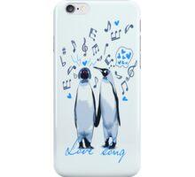King Penguin's Love Song iPhone Case/Skin