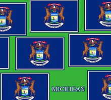 Smartphone Case - State Flag of Michigan - Horizontal V by Mark Podger