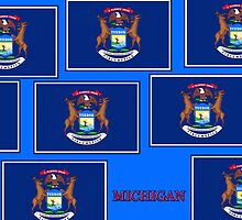 Smartphone Case - State Flag of Michigan - Horizontal VII by Mark Podger