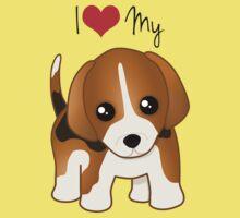 Cute Little Beagle Puppy Dog Kids Clothes