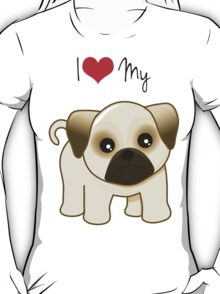 Cute Little Pug Puppy Dog T-Shirt