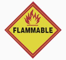flammable waring signal by Federica Cacciavillani