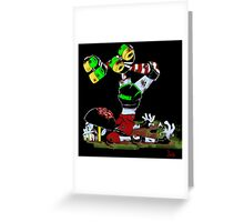Zombie Roller Girl  Greeting Card