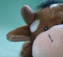 Close up of toy cow by Kelly Eaton