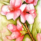 Peach Flower Watercolor iPhone Case by Juliette Vaissiere