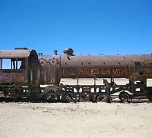 Abandoned Train in Uyuni Desert, Bolivia by Mon Zamora