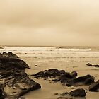 Antique tinted Cornish costal view by Ekl75