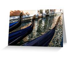 Venetian Gondolas Greeting Card