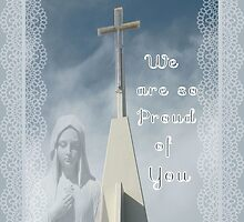 Congratulations on Becoming Nun Greeting Card by Rosalie Scanlon