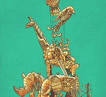 The Clockwork Menagerie (Teal) by Eric Fan