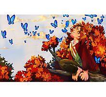 Bilbo and Butterflies Photographic Print