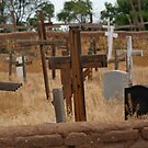 Taos Pueblo Grave Site by WolfPause