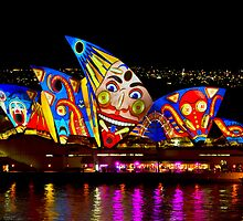 Clown Sails - Sydney Vivid Festival - Sydney Opera House by Bryan Freeman