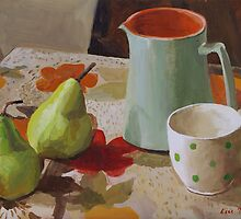 Coffee with roadside pears by Lise Temple