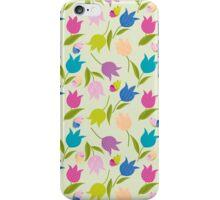 Decorative Tulips Pattern iPhone Case/Skin