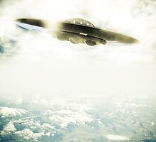 UFO Over Mountains by mdkgraphics