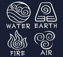 Water Earth Fire Air by alia-x