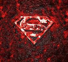 iPhone Cover - Superman Logo On Frozen Magma by Chibie