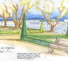 praça do império. lisboa. sketch by terezadelpilar~ art & architecture
