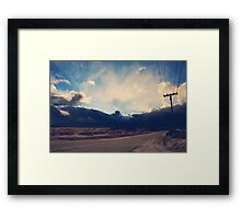 Just Down the Road Framed Print