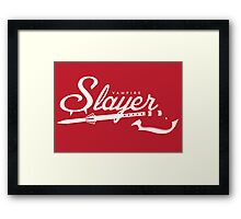 Vampire Slayer - RED Framed Print