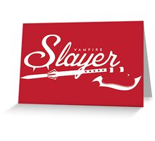 Vampire Slayer - RED Greeting Card