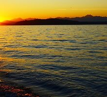 Sunset on Alki Beach, Seattle, WA - 10/7/2012 by VimanaVisual