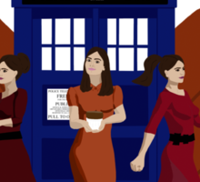 Clara and The Doctors Sticker