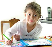 Studious Lauren, only 5 years old.  by ronsphotos