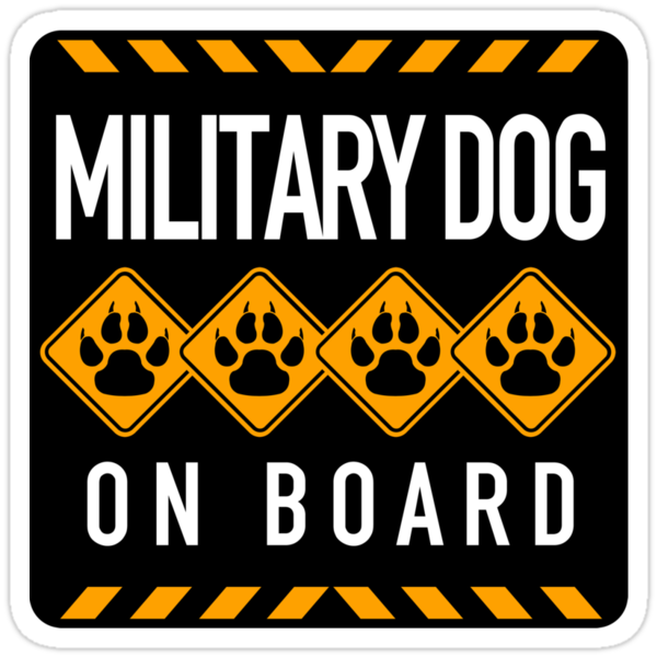 Military Dog On Board by SignShop