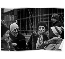 chatting ladies Poster