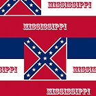Iphone Case - State Flag of Mississippi - Horizontal by Mark Podger