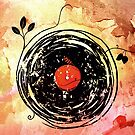 Enchanting Vinyl Records Grunge Art Print by Denis Marsili
