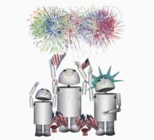 Robo-x9 and His Robot Family Celebrate 4th of July by Gravityx9
